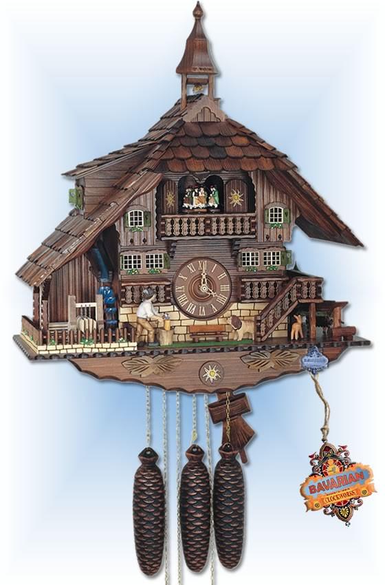 Anton Schneider | 8TMT 1071/9 | 23 inch | Classic Sawmill | Chalet | cuckoo clock | full view