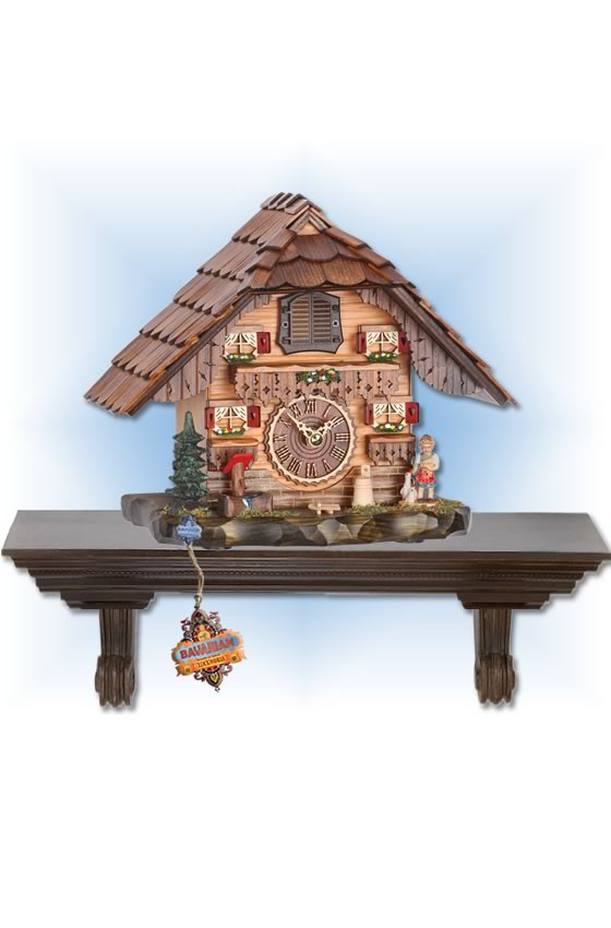Trenkle | 486 QM | 8 inch | Black Forest Mantle | Chalet | cuckoo clock | full view