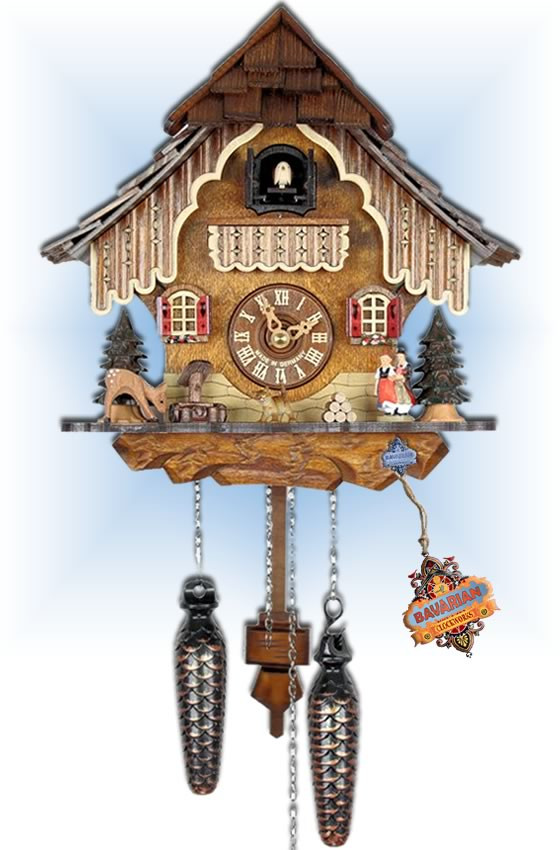 Adolf Herr | 21QM | 10 inch | Forest Scene | Chalet | cuckoo clock | full view