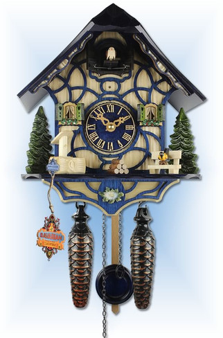 Blue Magic cuckoo clock - full view
