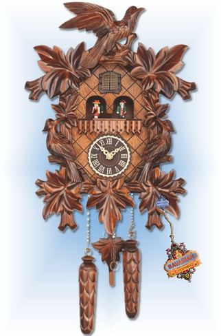 Quartz Classic 3 Bird cuckoo clock - full view