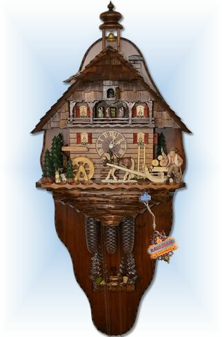 August Schwer | 5.8861.01.P2 | 27 inch | Mounted Timber Haul  | Chalet | cuckoo clock | full view