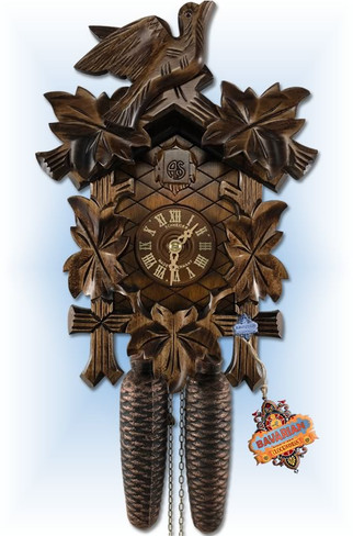 Schneider Forest Traditions hand carved cuckoo clock   full view