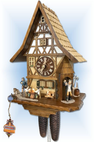 Night Watchman cuckoo clock 8T 525/9