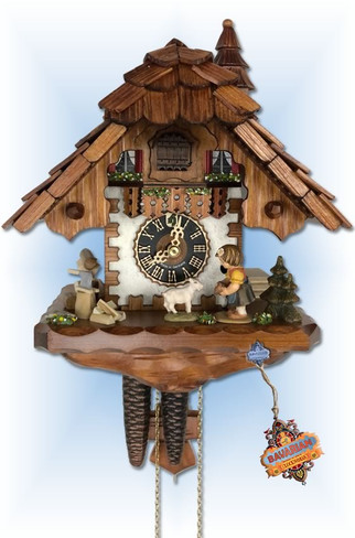 Girl and Goat cuckoo clock