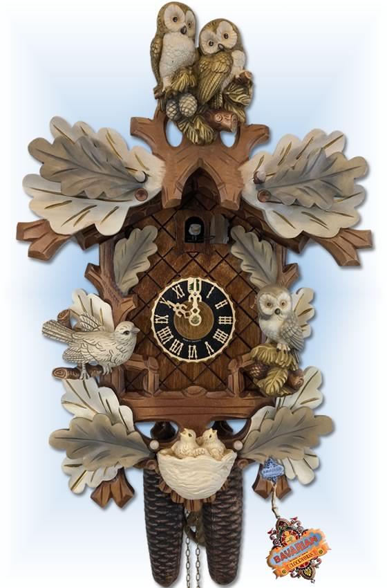 Snow Owls cuckoo clock