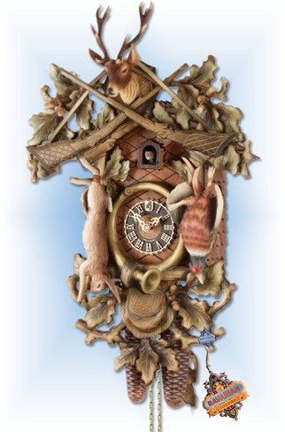 Forest Hunter cuckoo clock