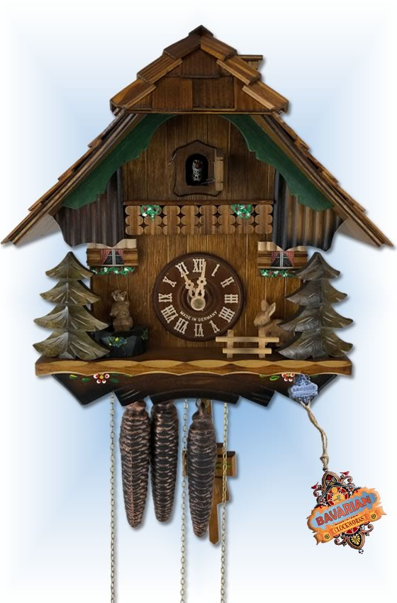 Jumping Chipmunk cuckoo clock