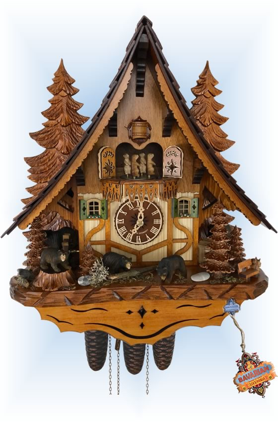 Bear Chalet | Cuckoo Clock | by Schneider | full view