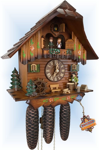 Woodcutter   Cuckoo Clock   by Schneider   full view