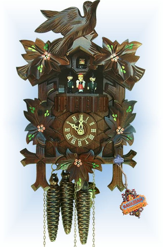 Schneider   13''H   Cuckoo Flowers   Traditional   cuckoo clock   full view