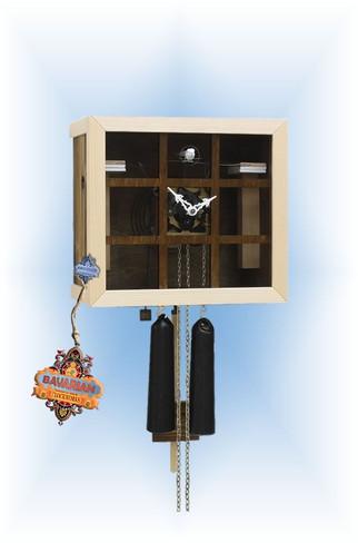 Rombach & Haas | fv35-4 | 10''H | Bauhaus Grid | Modern | cuckoo clock | full view