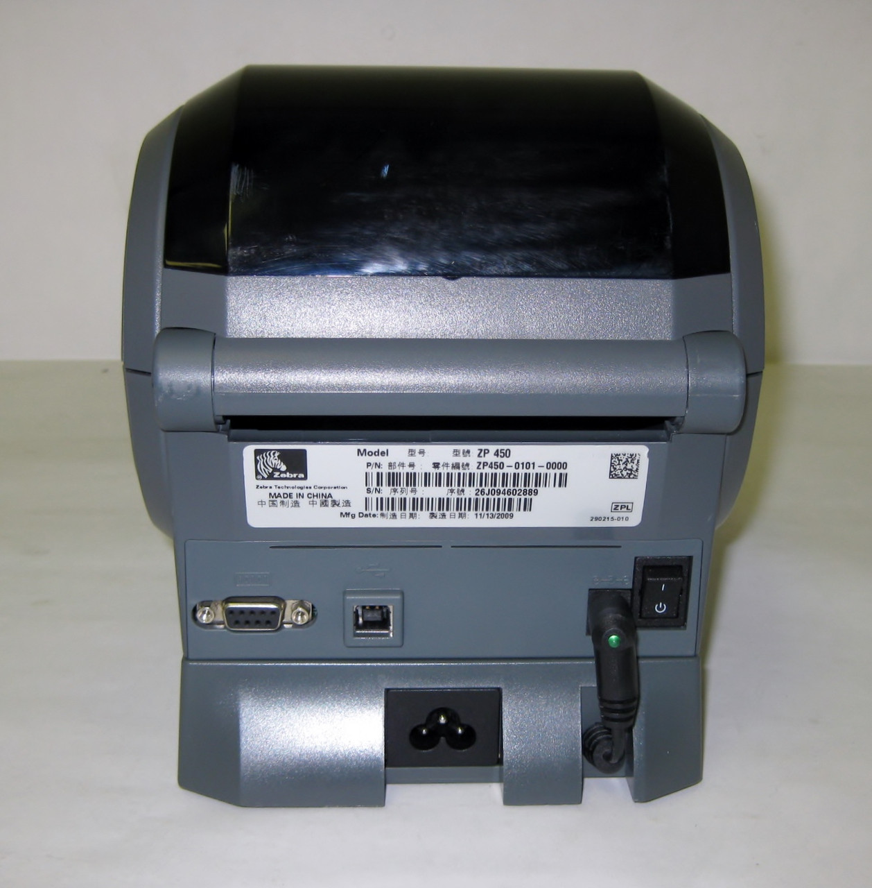 Zebra ZP450 Thermal Label Printer USB/Serial Connections & 250 labels  UPS com