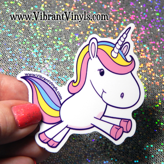 Unicorn Stickers - Indoor or Outdoor - Cars, laptops, notebooks, drink ware & more.