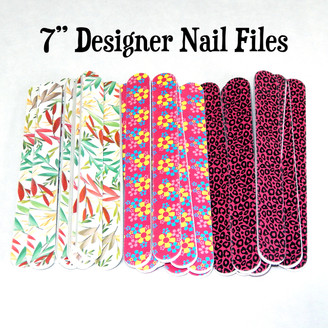 7 Inch Designer Nail Files 2 Pack
