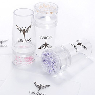 Ejiubas Clear Jelly Stamper with Rhinestone Cap