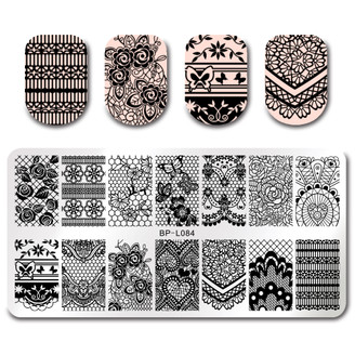Lovely Lace - Rectangle Stamping Plate - Born Pretty L084