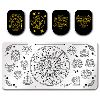 Astrology - Rectangle Stamping Plate - Born Pretty L087