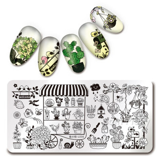 Garden Shop - Rectangle Stamping Plate - Harunouta L036