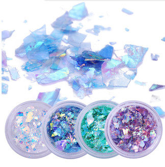 4pc. Set of Broken Glass Flakes