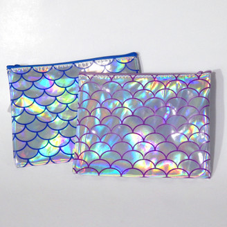 Holo Mermaid Scale Zippered Bags