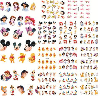 Ultimate Disney Collection of Water Slide Decals - 11 Sets!