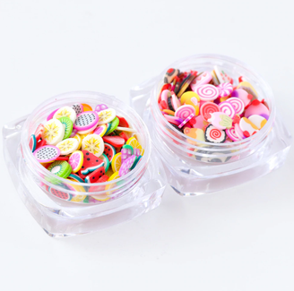 Fimo Slices Nail Charms - Mixed Fruit & Sweets