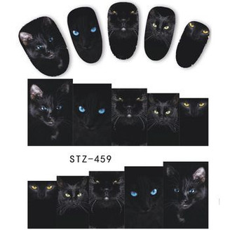 Water Slide Decals - Black Cats STZ-459