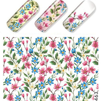 Water Slide Decals - Floral STZ-463