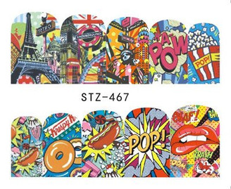 Water Slide Decals - Comic STZ-467