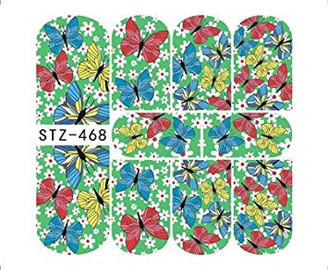 Water Slide Decals - Butterflies STZ-468