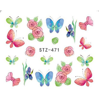 Water Slide Decals - Butterfly Garden STZ-471