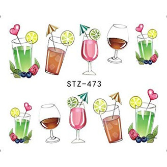 Water Slide Decals - Drinks STZ-473