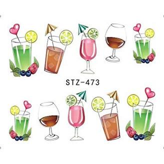 Water Slide Decals - Drinks STZ-473