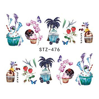 Water Slide Decals - Cupcakes STZ-476