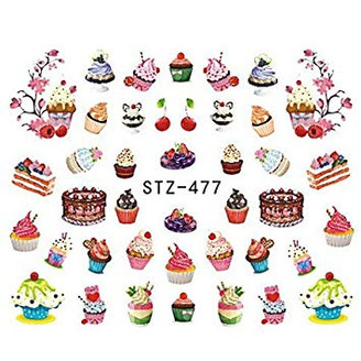 Water Slide Decals - Cupcakes STZ-477