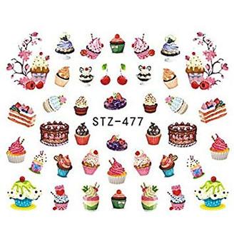 Water Slide Decals - Cupcakes STZ-477