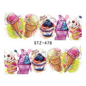 Water Slide Decals - Ice Cream STZ-478