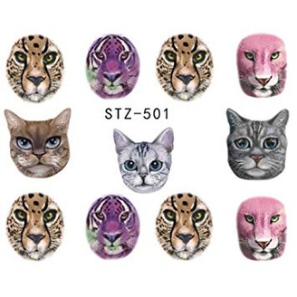 Water Slide Decals - Cats STZ-501