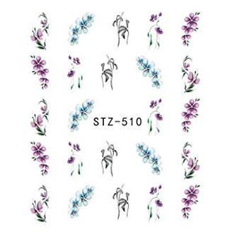 Water Slide Decals - Flowers STZ-510