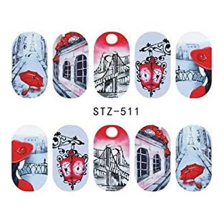 Water Slide Decals - Red STZ-511