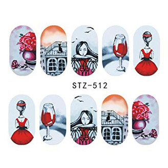 Water Slide Decals - Red STZ-512