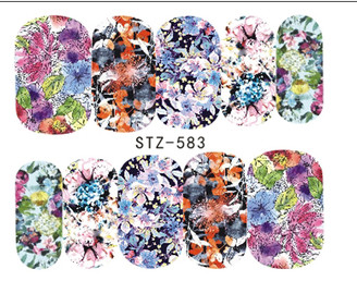 Water Slide Decals - Floral STZ-583
