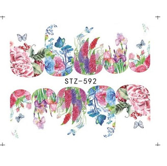 Water Slide Decals - Floral STZ-592