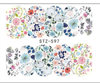 Water Slide Decals - Floral STZ-597