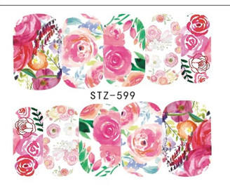 Water Slide Decals - Floral STZ-599