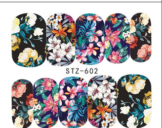Water Slide Decals - Floral STZ-602