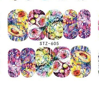 Water Slide Decals - Floral STZ-605