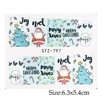 Water Slide Decals - Christmas STZ-797