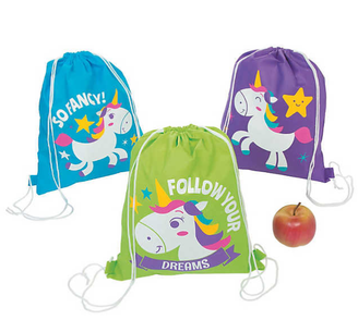 Large Unicorn Drawstring Bags